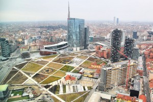 nieuw stadspark in Milaan: Biblioteca degli Alberi